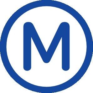 free vector Metro M clip art