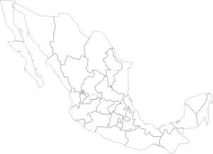 free vector Mexican Political Map clip art