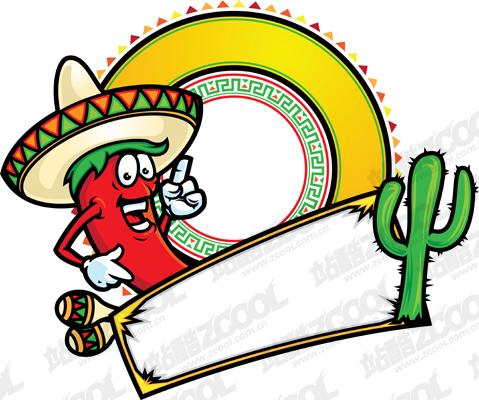 free vector Mexico cartoon style vector