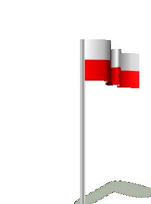 free vector Michaelin Flag Poland Wind clip art