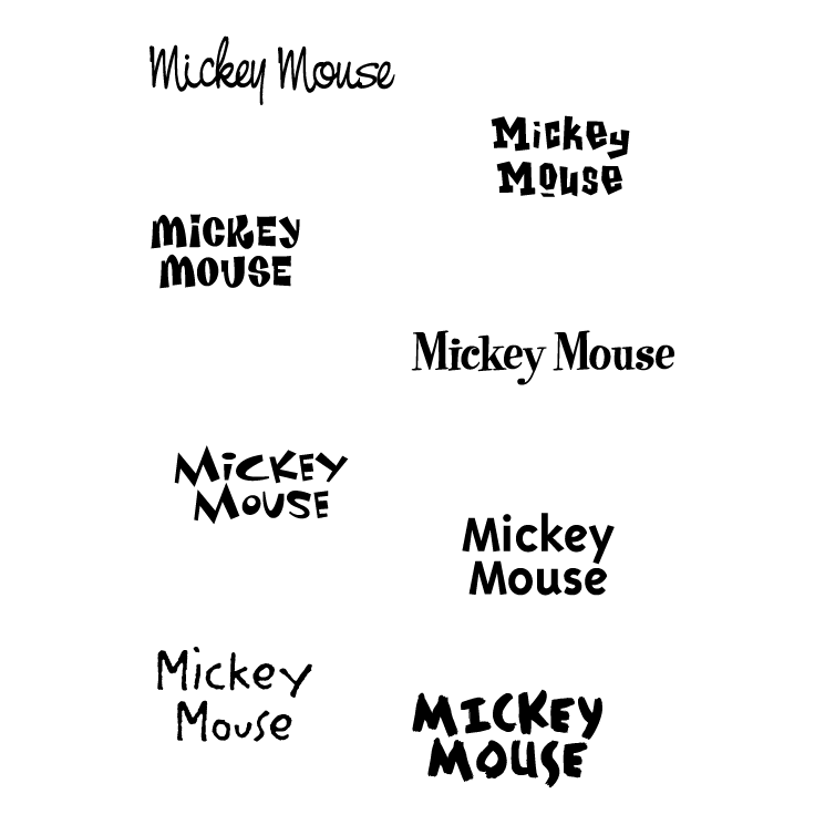 free vector Mickey mouse 6