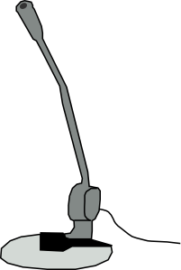 free vector Microphone  clip art
