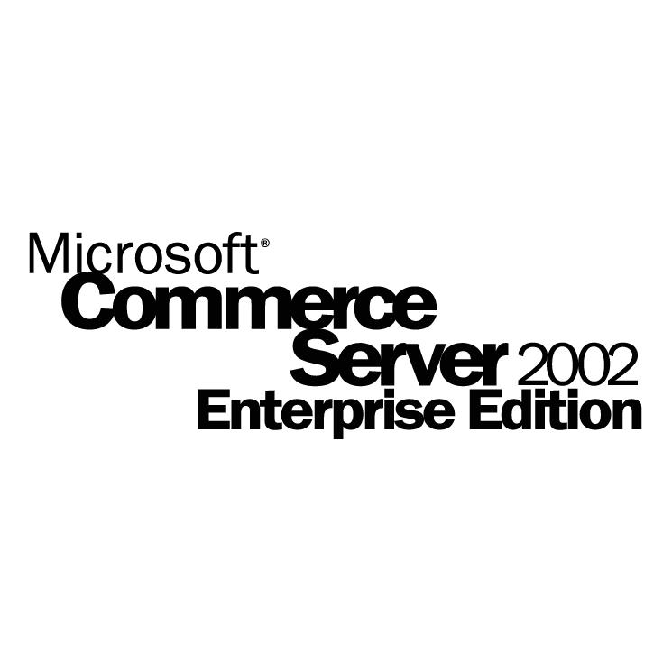 free vector Microsoft commerce server 2002