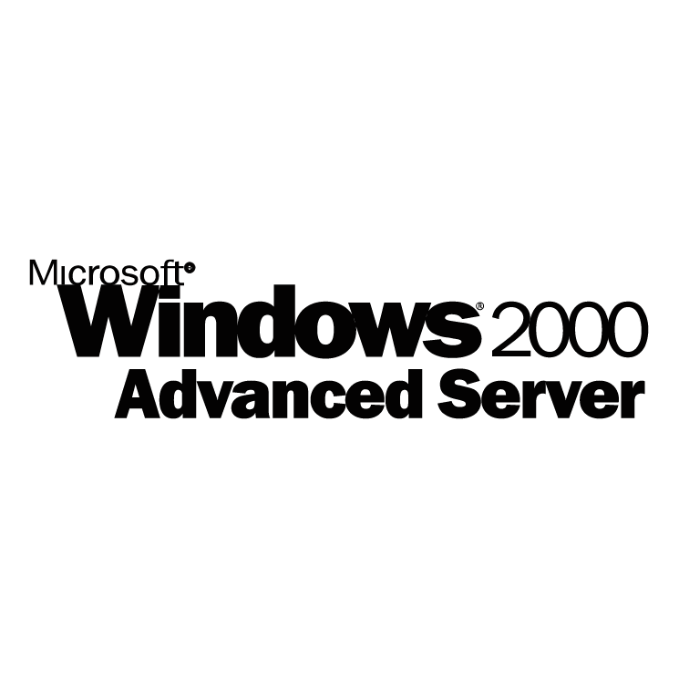 free vector Microsoft windows 2000 advanced server
