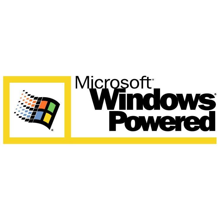 free vector Microsoft windows powered