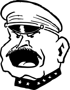 free vector Military Man Yelling clip art