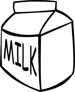 free vector Milk (b And W) clip art