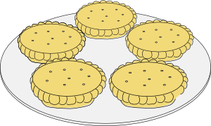 free vector Mince Pies clip art