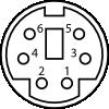 free vector Minidin Connector Pinout clip art