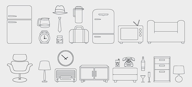 free vector Minimal Retro Pack