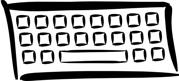 free vector Minimalist Keyboard clip art