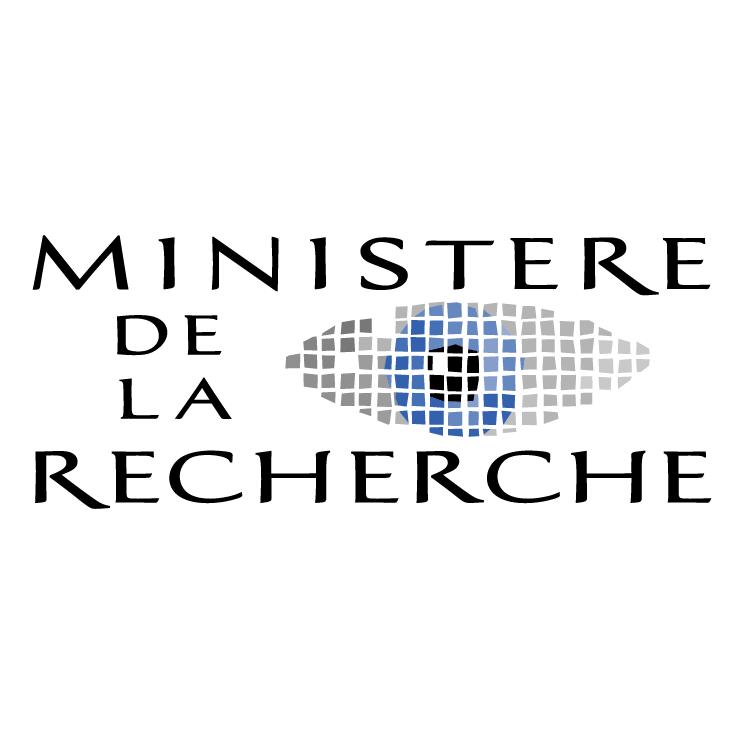 ministere de la recherche free vector 4vector