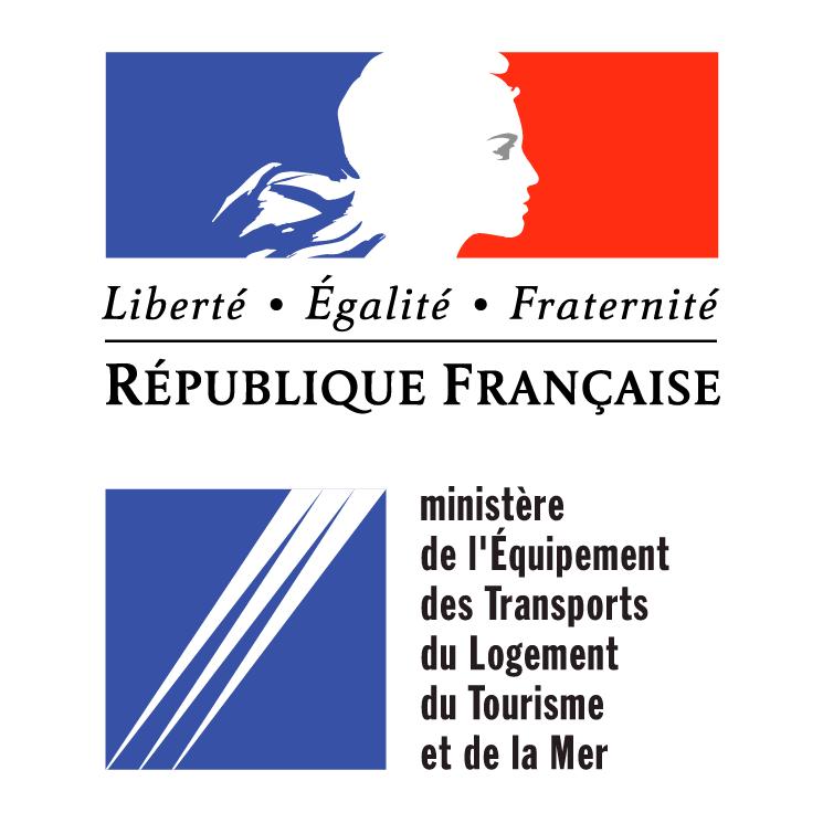 free vector Ministere de lequipment des transport du logement du tourisme et de la mer