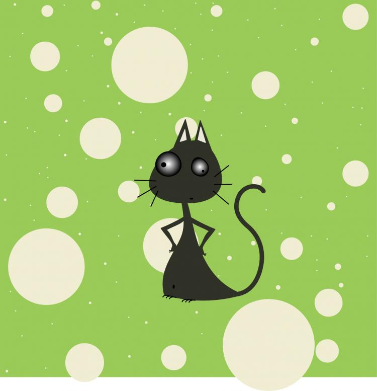 free vector Mister Moustache Cat Vector