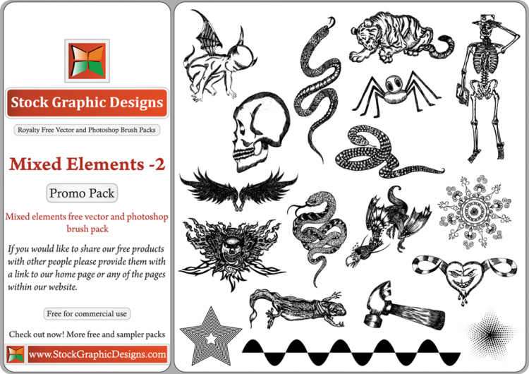 free vector Mixed Elements Free Illustrator Vector Pack-2