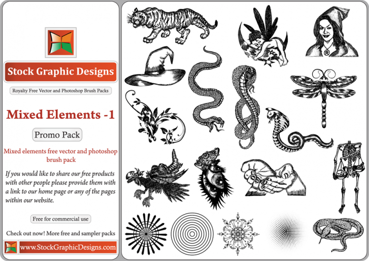 free vector Mixed Elements Free Vector Pack-1
