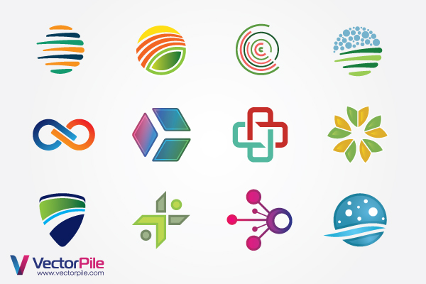 free vector Mixed Logo Vector Design Elements