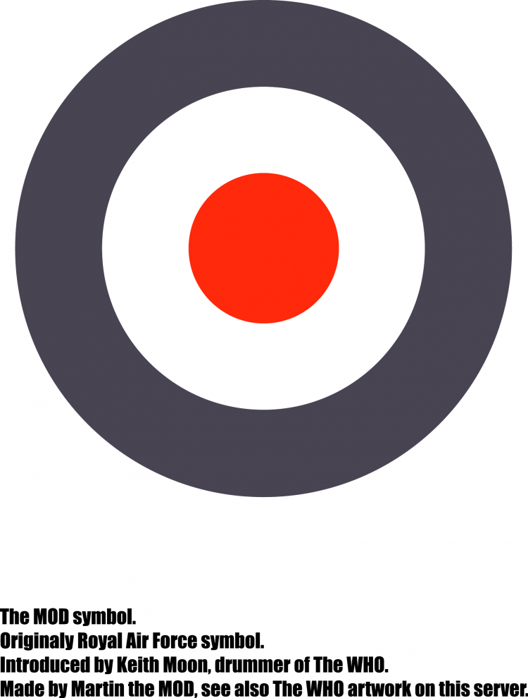 free vector Mod symbol introduced by the who