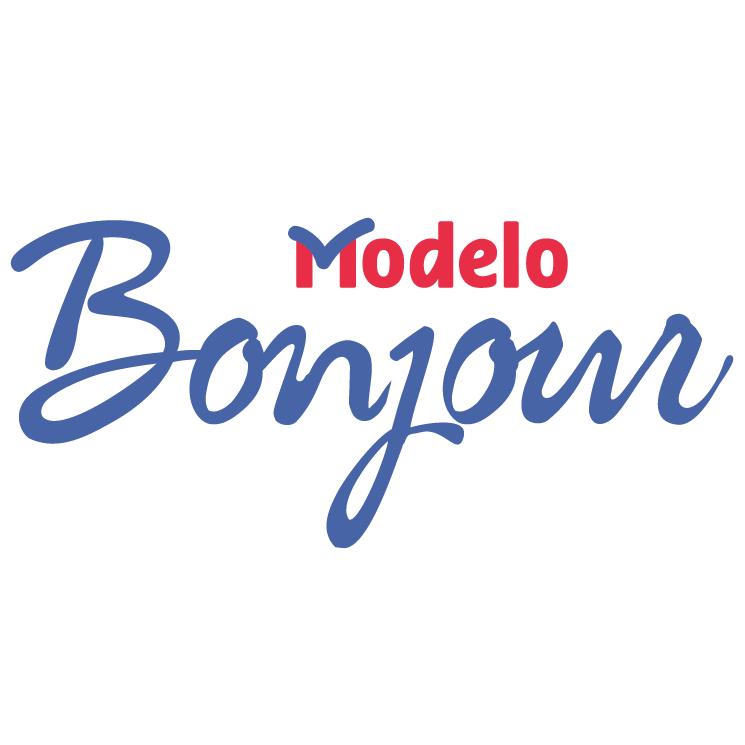 free vector Modelo bonjour