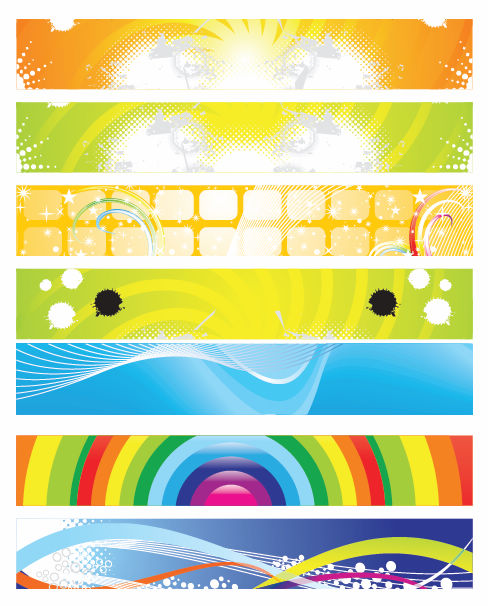 free vector Modern Abstract Banner Vector Set