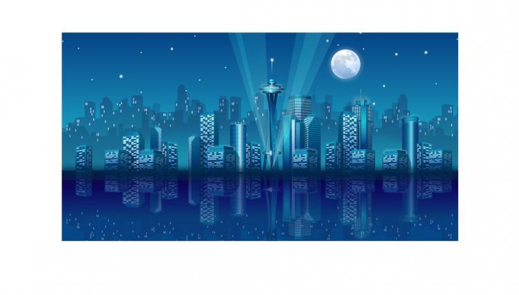 free vector Modern city landscape