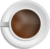 free vector Mokush Realistic Coffee Cup Top View clip art