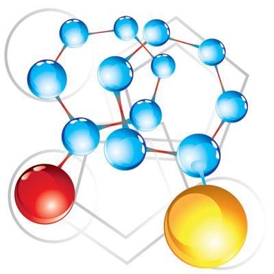 free vector Molecular structure of vector