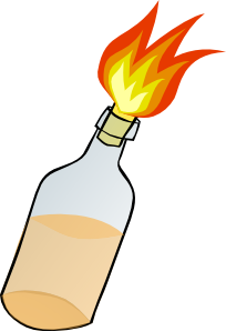 free vector Molotov Cocktail clip art
