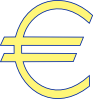 Monetary Euro Symbol clip art (111017) Free SVG Download ...