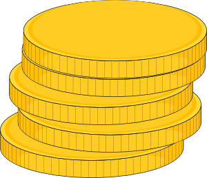 free vector Money Stack Of Coins clip art