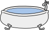 free vector Monicams Bathtub clip art