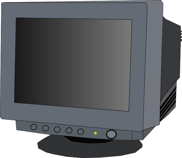 free vector Monitor Crt clip art