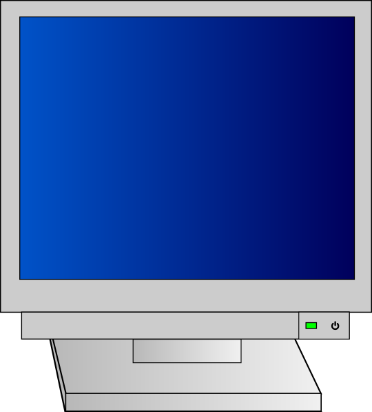 free vector Monitor With Power Light clip art