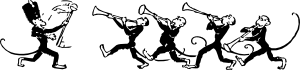 free vector Monkey Band clip art