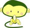 free vector Monkey Eating Banana clip art