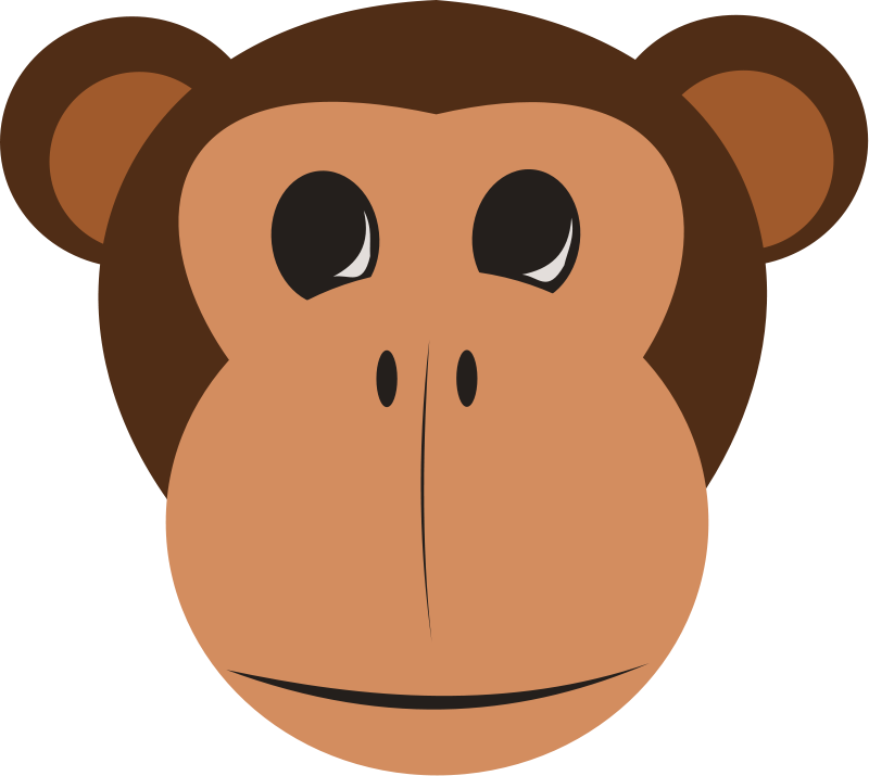 free vector Monkey Face