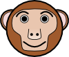 free vector Monkey Rounded Face clip art