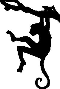 free vector Monkey Sihouette clip art