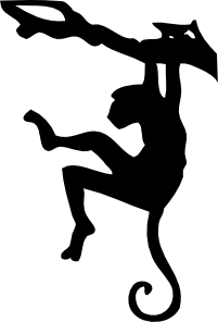 free vector Monkey Silhouette clip art