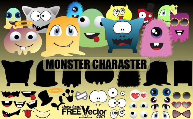 free vector Monsters Character