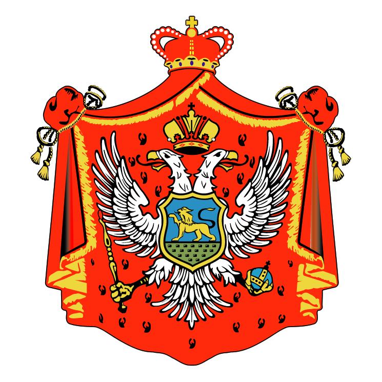 free vector Montenegro old crest