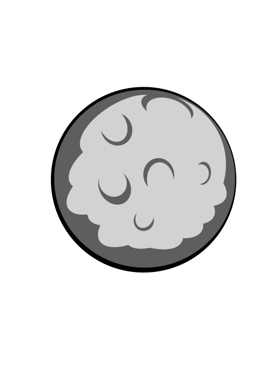 free vector Moon charles mccolm 01