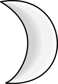 free vector Moon Crescent clip art