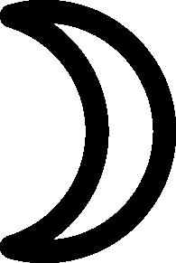 free vector Moon Symbol Crescent clip art