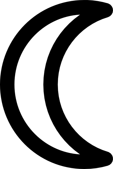 free vector Moon Symbol Decrescent clip art