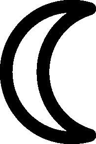 Moon Symbol Decrescent clip art Free Vector / 4Vector Symbols Copy And Paste Sun
