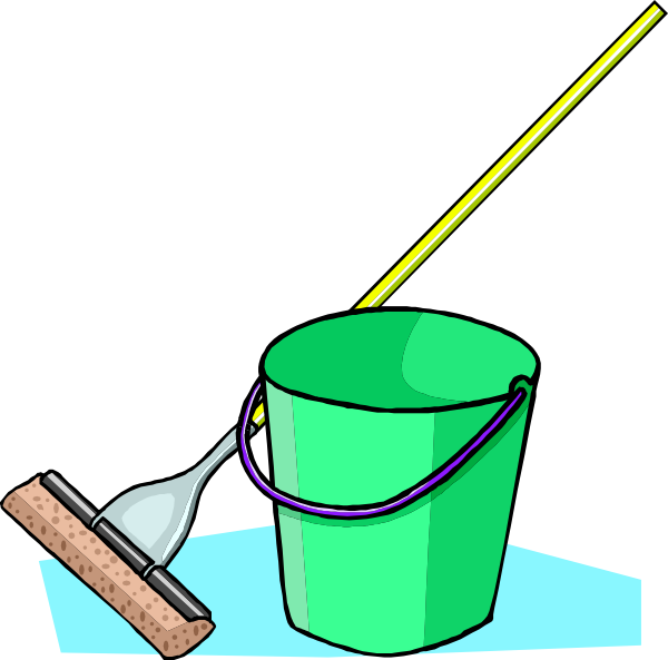 free vector Mop And Bucket clip art