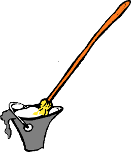 free vector Mop And Bucket clip art