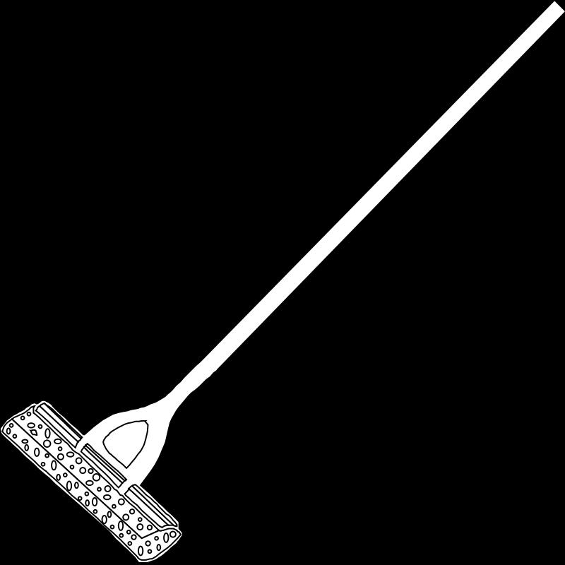 free vector Mop Line Art