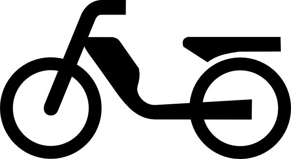free vector Moped Aus Zusatzzeichen clip art